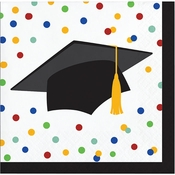 Colorful Graduation Beverage Napkins 192 ct