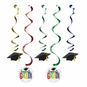 Colorful Graduation Dizzy Danglers 60 ct
