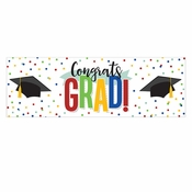 Colorful Graduation Party Banners 6 ct