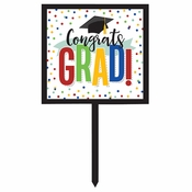 Colorful Graduation Yard Signs 6 ct