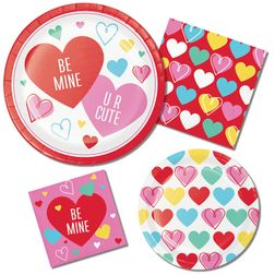 Colorful Hearts Valentines Day Party Supplies