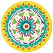 Colorful Pottery Dinner Plates 96 ct