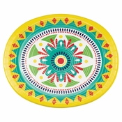 Colorful Pottery Oval Paper Plates 96 ct