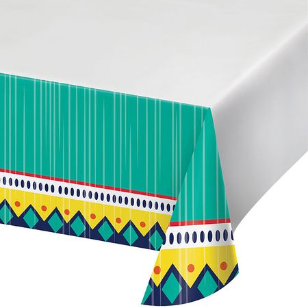 Colorful Pottery Paper Tablecloths 12 ct
