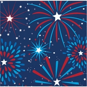 Fireworks Beverage Napkins 192 ct