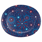 Fireworks Oval Paper Plates 96 ct
