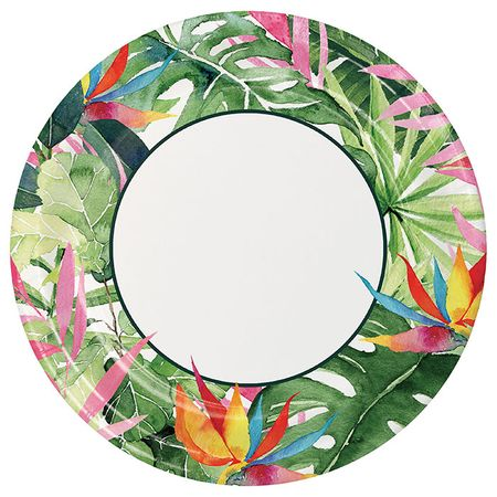 Floral Paradise Dinner Plates 96 ct