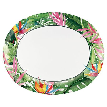 Floral Paradise Oval Paper Plates 96 ct