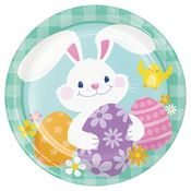 Funny Bunny Easter Dinner Plates 96 ct