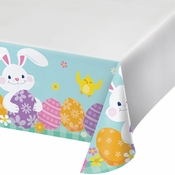 Funny Bunny Easter Paper Tablecloths 12 ct
