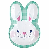 Funny Bunny Easter Shaped Dinner Plates 96 ct