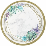 Geometric Succulents Dinner Plates 96 ct