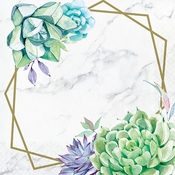 Geometric Succulents Luncheon Napkins 192 ct