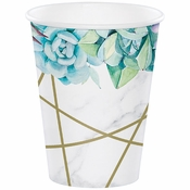 Geometric Succulents Paper Cups 96 ct