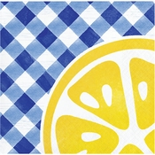 Gingham Lemonade Beverage Napkins 192 ct