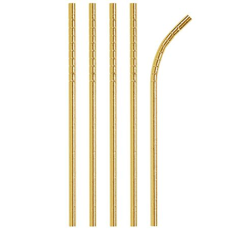 Gold Foil Paper Straws 144 ct