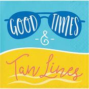 Good Times and Tan Lines Beverage Napkins 192 ct