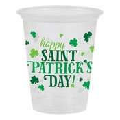 Happy St. Patricks Day Plastic Cups 96 ct