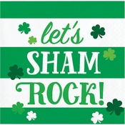 Lets ShamROCK St. Patricks Day Beverage Napkins 192 ct