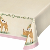 Little Deer Birthday Paper Tablecloth 6 ct