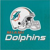 Miami Dolphins Luncheon Napkins