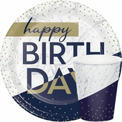 Navy and Gold Milestone Party Supplies