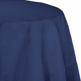 Navy Octy-Round Paper Tablecloths 12 ct