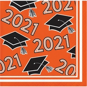 Orange 2021 Grad Beverage Napkins 360 ct