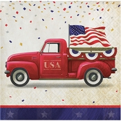 Patriotic Parade Beverage Napkins 192 ct