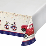 Patriotic Parade Paper Tablecloths 12 ct