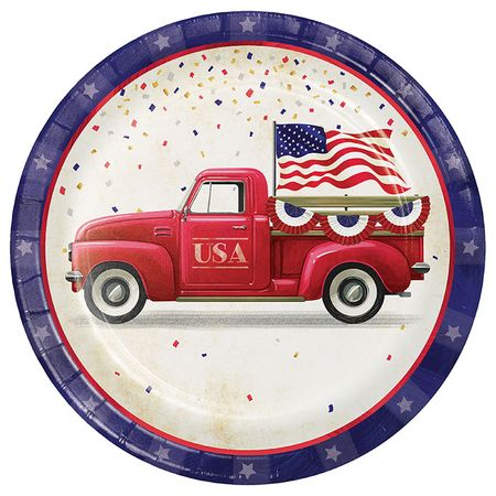 Patriotic Parade Dinner Plates 96 ct