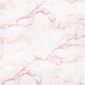 Pink Marble Luncheon Napkins 192 ct