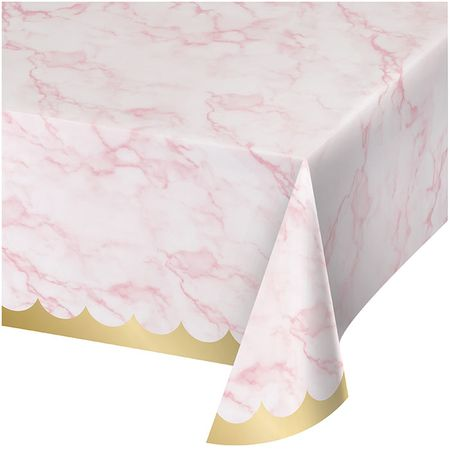 Pink Marble Paper Tablecloths 6 ct