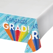 Rainbow Grad Paper Tablecloths 12 ct