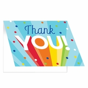 Rainbow Grad Thank You Cards 48 ct