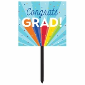 Rainbow Grad Yard Signs 6 ct