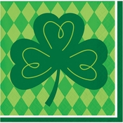 Shamrock St. Patricks Day Beverage Napkins 192 ct