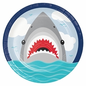Shark Party Dinner Plates 96 ct