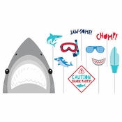 Shark Party Photo Booth Props 60 ct