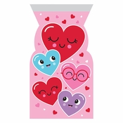Smiley Hearts Valentines Day Favor Bags 144 ct