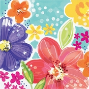 Spring Floral Luncheon Napkins 192 ct