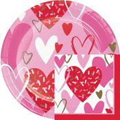 Sprinkled Hearts Valentines Day Party Supplies