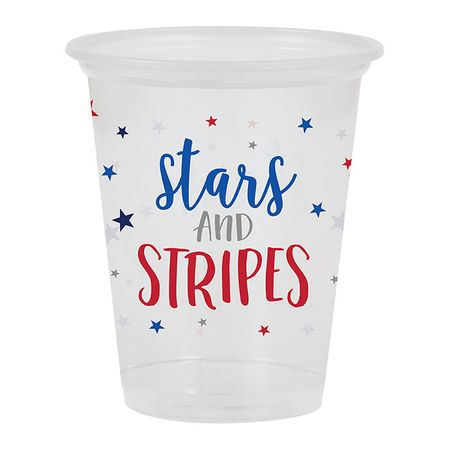 Stars and Stripes Plastic Cups 96 ct