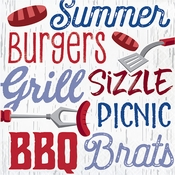 Summer BBQ Luncheon Napkins 192 ct