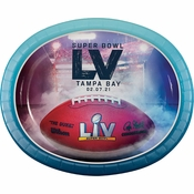 Super Bowl LV Oval Paper Plates 96 ct