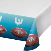 Super Bowl LV Plastic Tablecloths 12 ct