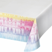 Tie Dye Party Paper Tablecloths 6 ct