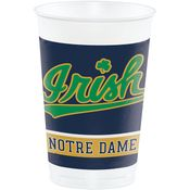 University of Notre Dame 20 oz Plastic Cups 96 ct