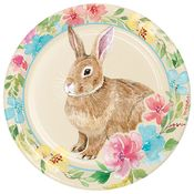 Watercolor Easter Bunny Dinner Plates 96 ct