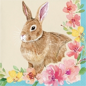 Watercolor Easter Bunny Luncheon Napkins 192 ct